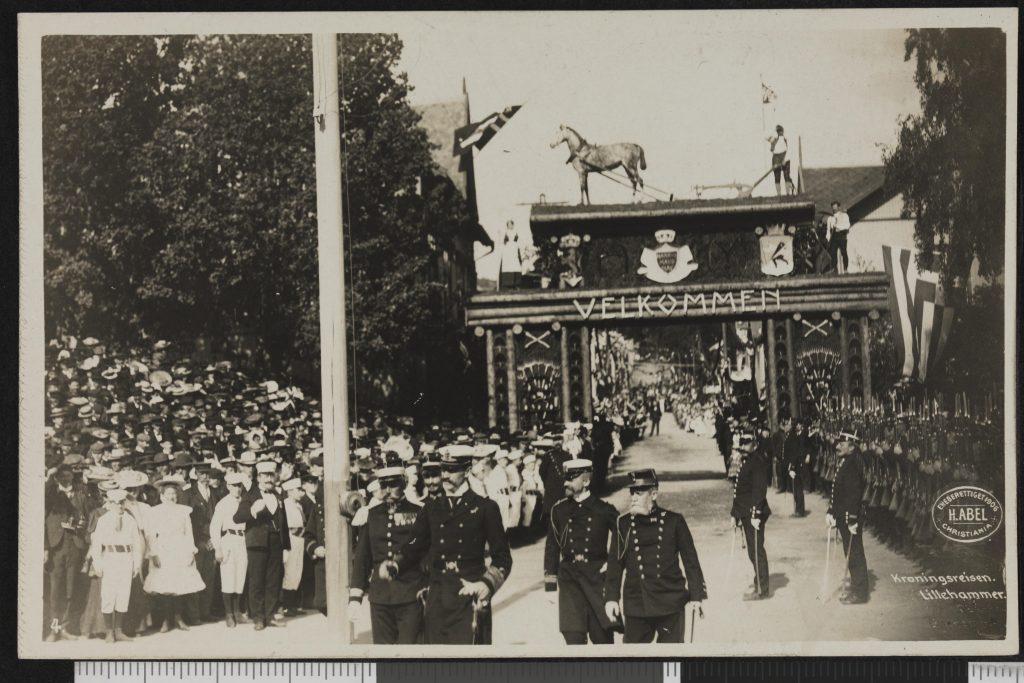 Kong haakons kroningsreise. Lillehammer 1906